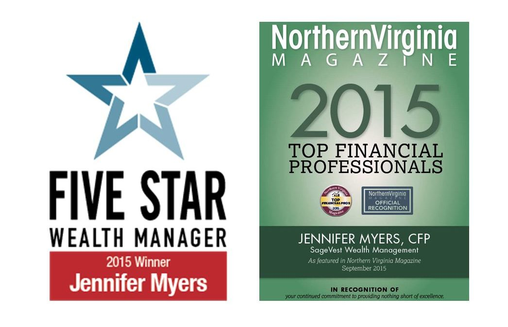 Jennifer Myers – Recipient of Two Wealth Professional Awards, 2015