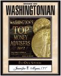 Plaque - Washingtonian Magazine Top Money Advisor 2012