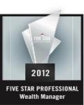 Five Star Professional Wealth Manager 2012 – Washington, DC Metro Area