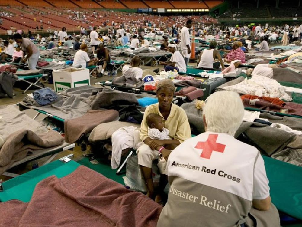 Hurricane Katrina volunteer and victim talk about being a philanthropist