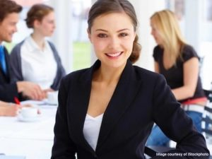 Young business professional understands the importance of relationship tips for women