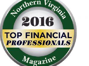 Northern VA Magazine Top Financial Professional Award 2016 logo