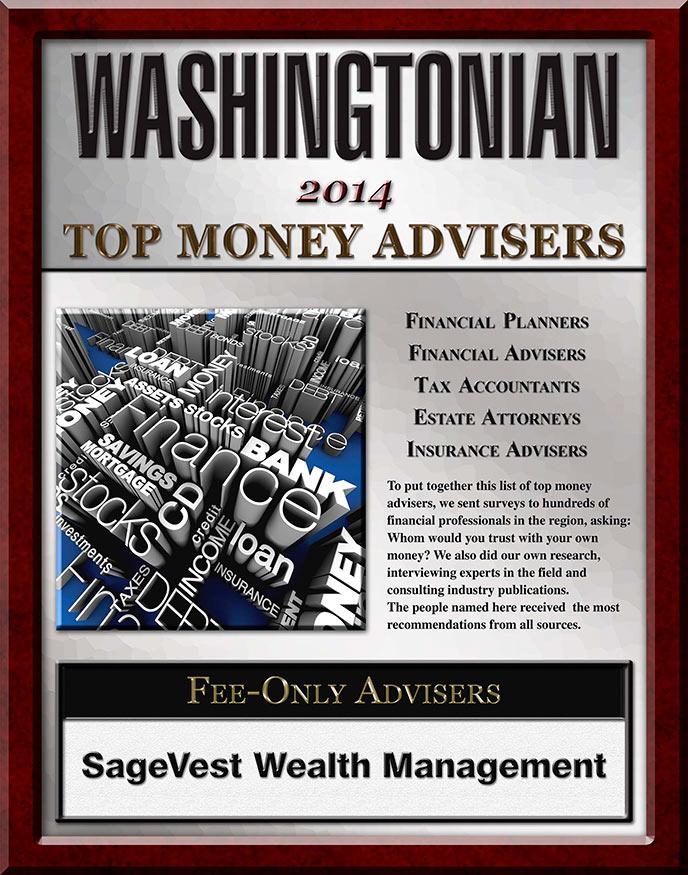 Washingtonian's Top Money Advisor 2014