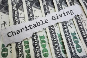Charitable giving wording across dollars for donation to donor advised funds (DAFs)