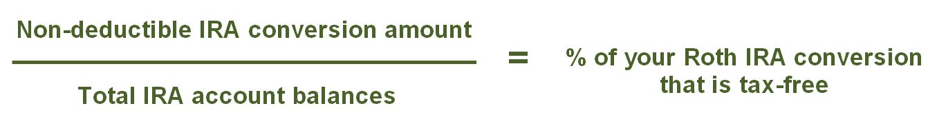 Equation to calculate taxation on back-door Roth IRA conversions