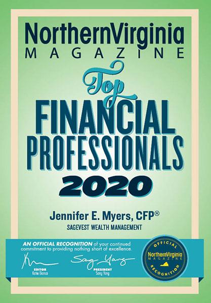 Northern Virginia Magazine Top Financial Professionals Award 2020
