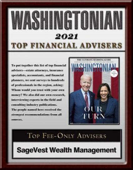 Washingtonian Top Financial Advisor 2021