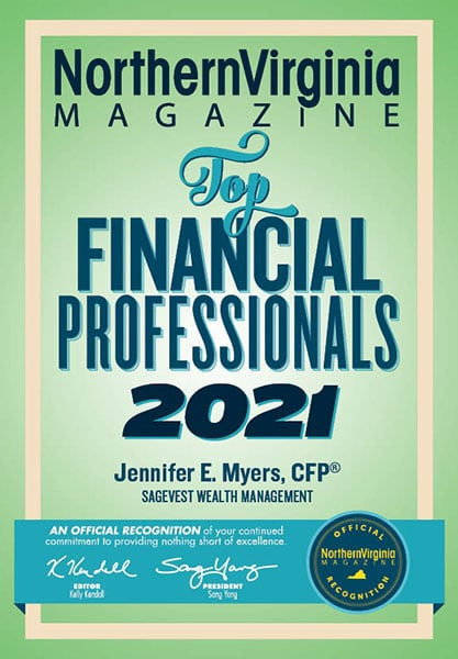 Northern Virginia Magazine Top Financial Professionals Award 2021