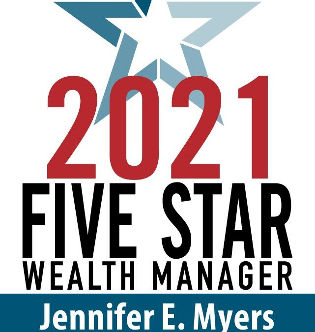 Jennifer Myers Recognized as a Five Star Wealth Manager 2021